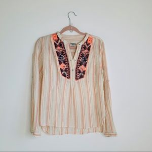Holding Horses by Anthropologie embroidered top